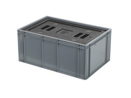 Isolatiebox-in-box met deksel - 600 x 400 x H273 mm - stapelbaar