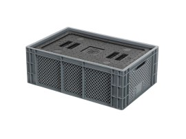 Isolatiebox-in-box met deksel - 600 x 400 x H223 mm - stapelbaar