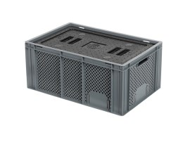 Isolatiebox-in-box met deksel - 600 x 400 x H274 mm - stapelbaar