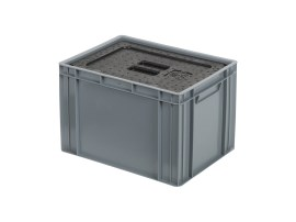 Isolatiebox-in-box met deksel - 400 x 300 x H273 mm - stapelbaar