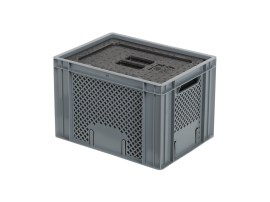 Isolatiebox-in-box met deksel - 400 x 300 x H272 mm - stapelbaar