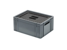 Isolatiebox-in-box met deksel - 400 x 300 x H193 mm - stapelbaar