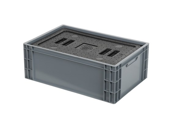 Isolatiebox-in-box met deksel - 600 x 400 x H223 mm - stapelbaar 30.521I