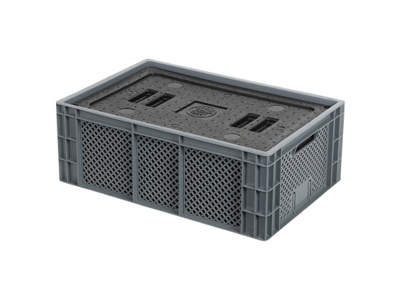 Isolatiebox-in-box met deksel - 600 x 400 x H223 mm - stapelbaar 30.421I