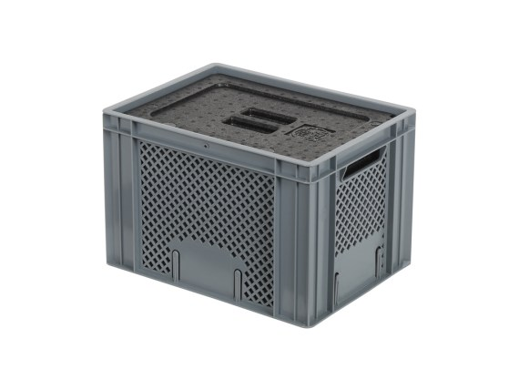 Isolatiebox-in-box met deksel - 400 x 300 x H272 mm - stapelbaar 30.026I