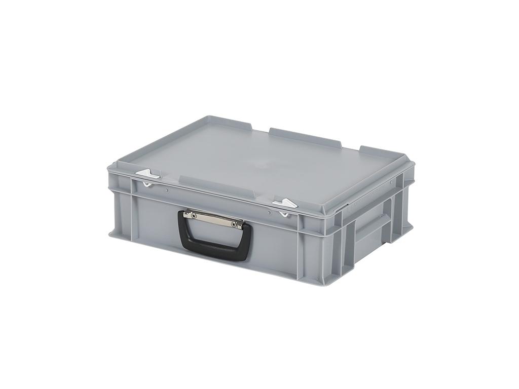 1e4f3261d73 SOLID LINE koffer - 400 x 300 x H 133 mm - grijs - stapelbak met ...