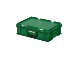 5b6c6d9e4f3 SOLID LINE koffer - 400 x 300 x H 133 mm - groen - stapelbak met