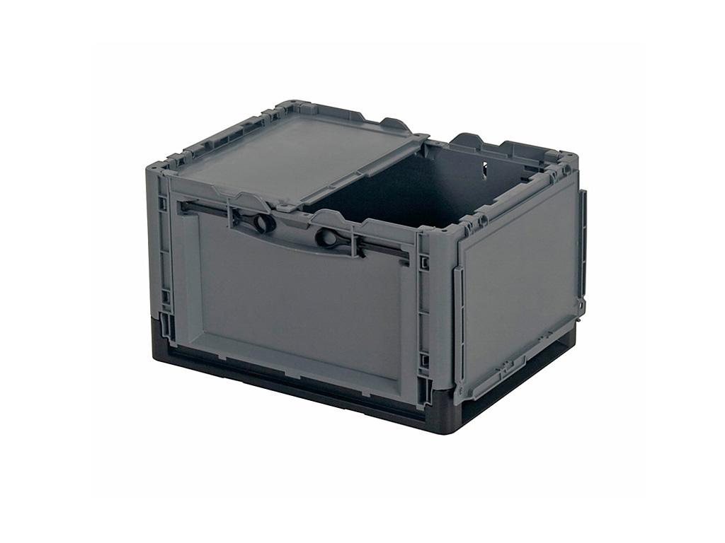 Clever move klapbox met deksel 400 x 300 x h 240 mm hulkenberg - Deksel x ...